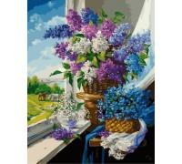 """Картина. Brushme """"Травневі квіти біля вікна"""" GX24785"""