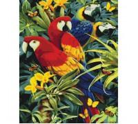 """Картина. Тварини, птахи """"Різнобарвні папуги"""" 40х50см KHO4028"""
