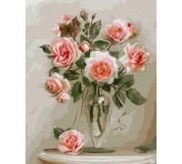 """Картина по номерам. Brushme """"Ніжні троянди"""" GX4741"""