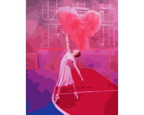 """Картина. Brushme """"Балерина з повітряним серцем"""" GX24877"""
