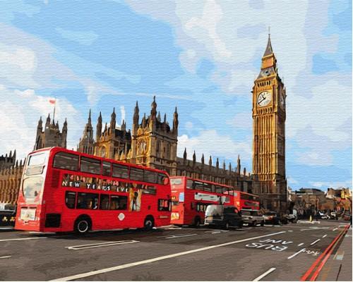 """Картина. Brushme """"Магія Лондона"""" GX30085"""