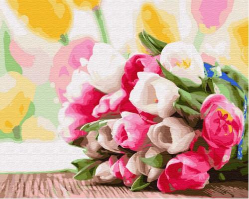 """Картина. Brushme """"Букет тюльпанів"""" GX9193"""