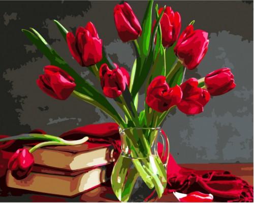 """Картина. Brushme """"Букет тюльпанів"""" GX8115"""