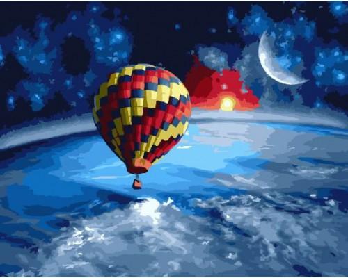 """Картина. Brushme """"Навколо землі на повітряній кулі"""" GX22551"""