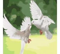 """Картина. """"Білі голуби"""" 40 * 40см KHO4149"""