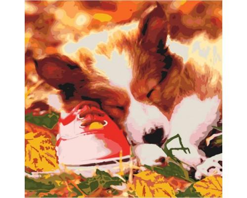 "Картина. Тварини, птахи ""Сплячий малюк"" 40х40см KHO4040"