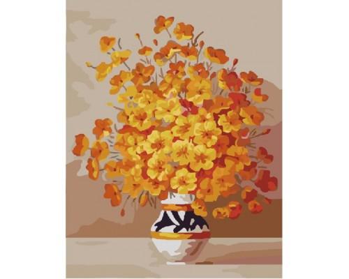 """Картина. Brushme """"Жовті квіти у вазі"""" GX7333"""