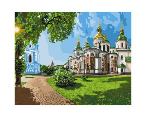 """Картина. Міський пейзаж """"Софія Київська"""" 40 * 50см КНО2831"""