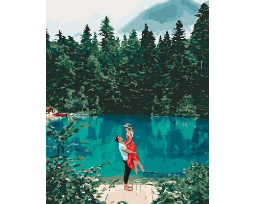 "Картина. ""Побачення у озера"" 40 * 50см KHO2271"