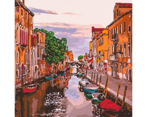 """Картина. """"Венеціанський вечір"""" 40 * 40см KHO3571"""