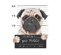 "Картина. Rosa ""Bad Puggy"" 35х45см N00013215"