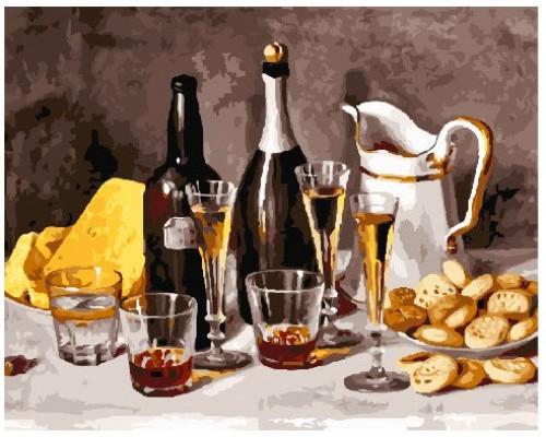 """Картина. Brushme """"Вино з фруктами"""" GX25157"""