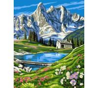 """Картина. Brushme """"Швейцарські Альпи"""" GX6716"""