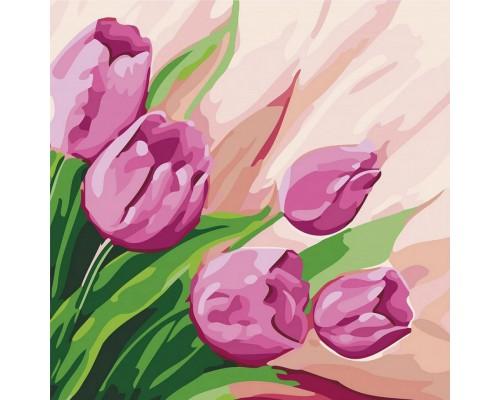 """Картина. """"Перські тюльпани 2"""" 30 * 30см KHO2948"""