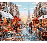"""Картина. """"Квітковий магазин Парижа"""" 40*50см KpN-01-09U"""