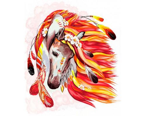 """Картина. """"Вогняний кінь"""" 40*50см укр KpN-01-07U"""