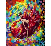 """Картина. """"Яскравий танець"""" 40*50см. KpN-01-05U"""