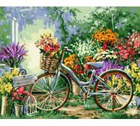 """Картина. Art Craft """"Велосипед в кольорах"""" 40*50см 12501"""