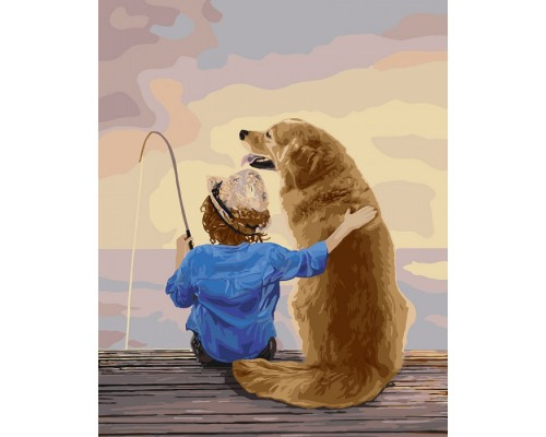 "Картина. ""На рибалці"" 40 * 50см KHO2341"