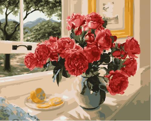"""Картина. Art Craft """"Троянди на підвіконні"""" 40*50 см 12115"""