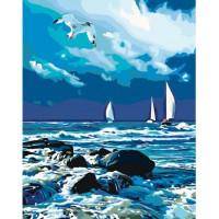 """Картина """"Бурхливе море"""" 40*50 см KHO2747"""
