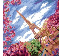 "Картина. ""Весна в Парижі"" 40 * 40см KpNe-02-02"