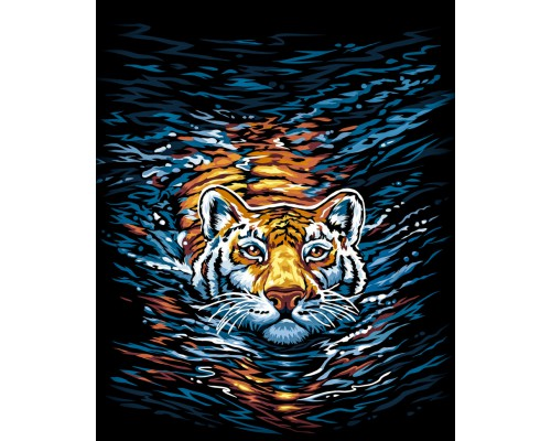 "Картина. ""Тигр"" 40 * 40см KpNe-02-03"