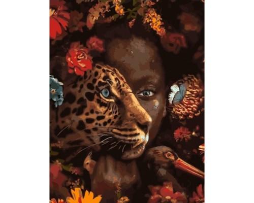 """Картина. Brushme """"Амазонка серед звірів"""" GX33399"""