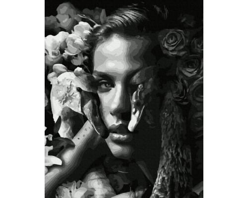 """Картина. Brushme """"Жінка з лебедями"""" GX35638"""