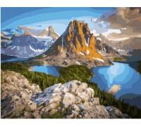 """Картина. Brushme """"Озера біля скель гори"""" GX21610"""