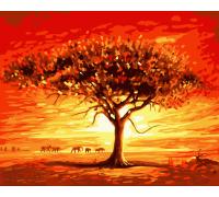 "Картина. Art Craft ""Золоте сонце Африки"" 40 * 50 см 10507-AC"