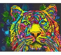 """Картина. Rainbow Art """"Різнобарвний тигр"""" GX34578-RA"""