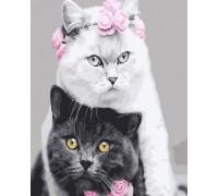 """Картина. Rainbow Art """"Біла кішка, чорний кіт"""" GX26128-RA"""