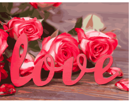 """Картина. Art Craft """"Троянди любові"""" 40 * 50 см 12118-AC"""