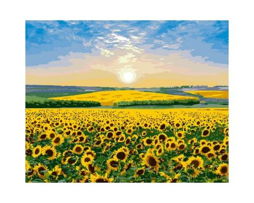 """Картина. """"Соняшниковий рай"""" 40 * 50см KHO2282"""
