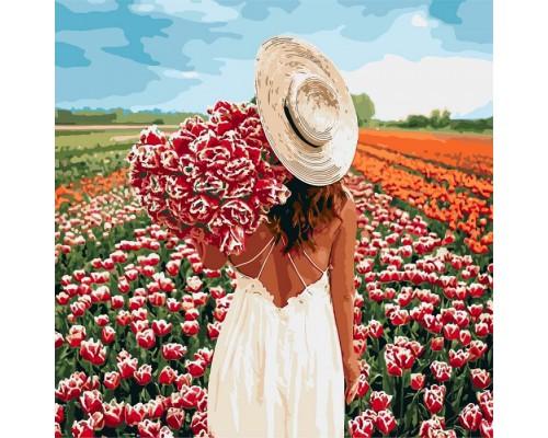 """Картина """"Оберемок тюльпанів"""" 40*40см KHO4725"""
