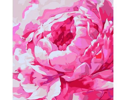 """Картина """"Рожева півонія 2"""" 30*30см KHO2949"""