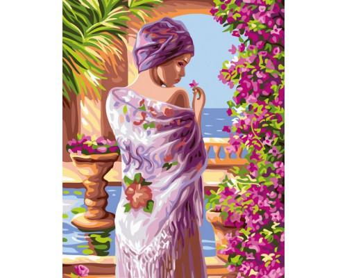 "Картина. Brushme ""Квіти у лоджи"" GX24107"
