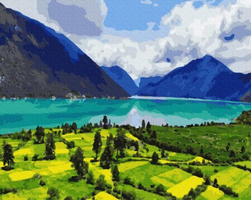 """Картина. Brushme """"Гірський пейзаж"""" GX34383"""