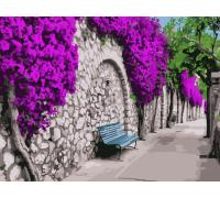 """Картина. Art Craft """"Бугенвіллія в Афінах"""" 40 * 50 см 10522-AC"""