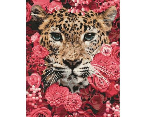 """Картина. """"Леопард в кольорах"""" 40*50см KHO4185"""