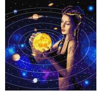 """Картина. Зодіак """"Підкорюючи всесвіт з фарбами металік"""" 50 * 50см KHO9539"""