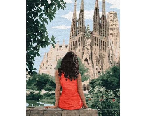 """Картина. """"Подорожуючи Барселоною"""" 40 * 50см KHO4746"""