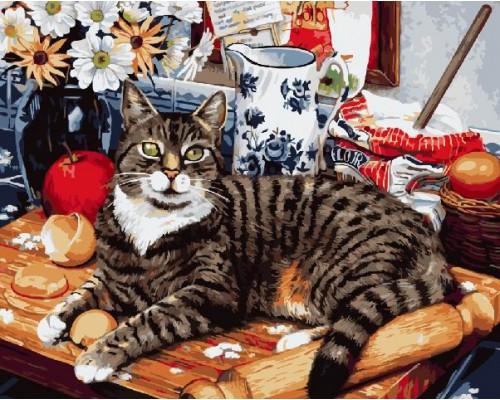 "Картина Brushme. ""Кіт-кулінар"" GX4141"