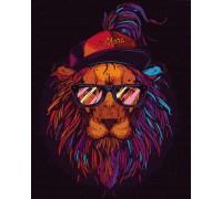 "Картина. Rainbow Art ""Лев-хіпстера"" GX35863-RA"