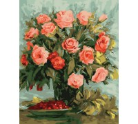 """Картина. Rainbow Art """"Ніжні троянди"""" GX26004-RA"""