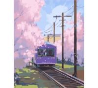 """Картина. Art Craft """"Поїзд до Сіндзюку"""" 40*50 см 10533-AC"""
