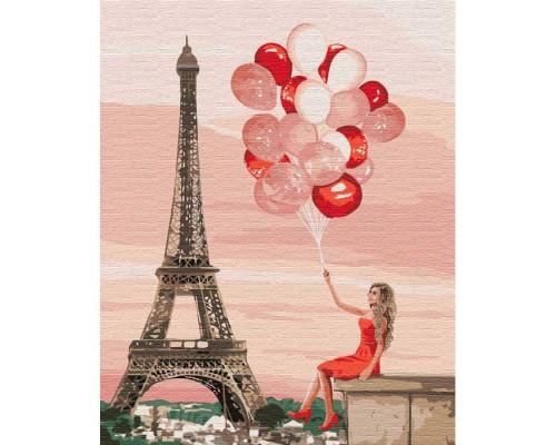 """Картина. """"Червоні фарби Парижа"""" 40*50см KHO4757"""