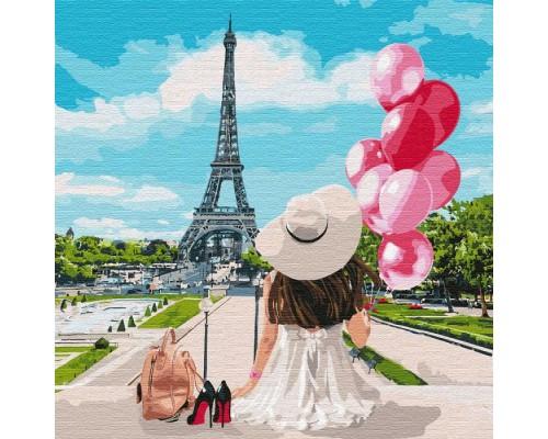 """Картина. """"Гуляючи вулицями Парижа"""" 40 * 40см KHO4756"""
